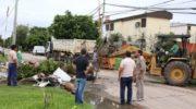 Gran operativo municipal de limpieza integral para mitigar los efectos de las lluvias