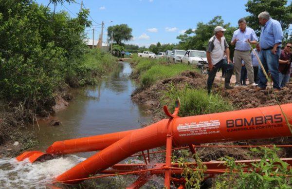 San Bernardo: Peppo supervisó los trabajos de bombeo 1