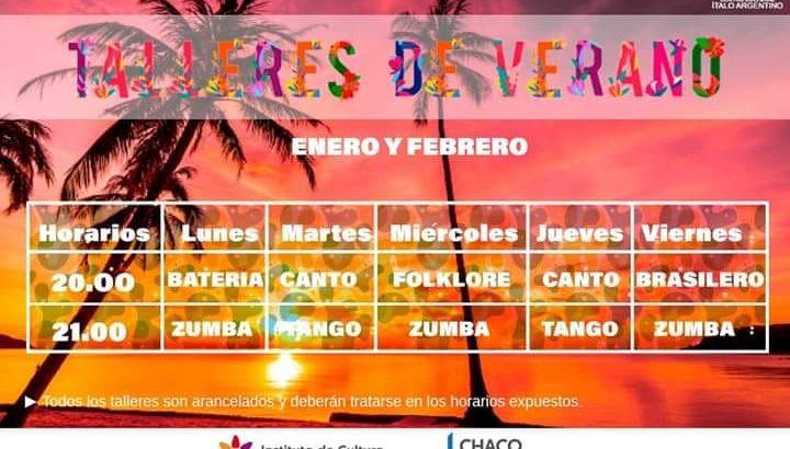 Talleres de Verano en el Centro Cultural Ítalo Argentino