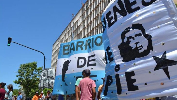 Movilización de Barrios de Pie, a favor del impuesto a las grandes fortunas