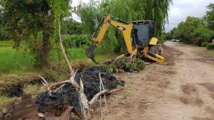 Concejo: Equipo Hábitat ejecutó trabajos de limpieza de desagües en Villa Puppo