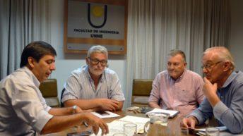 Gustavo Martínez y el decano de Ingeniería avanzan en un plan director de obras hídricas