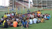 Más de 800 chicos se presentaron a la prueba de futbolistas de Sarmiento
