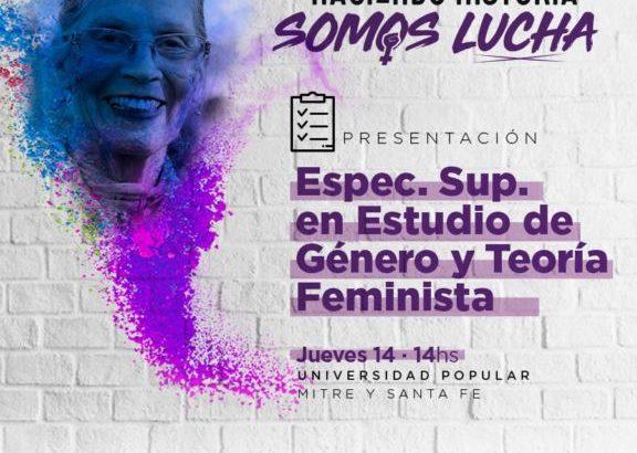 Comienza la Especialización Superior en Estudios de Género y Teoría Feminista