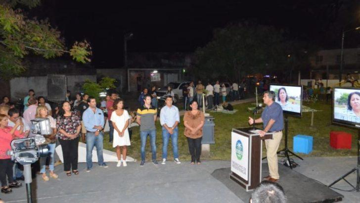 Capitanich inauguró obras de refacción y mejoramiento integral de la plazoleta de Villa Luzuriaga