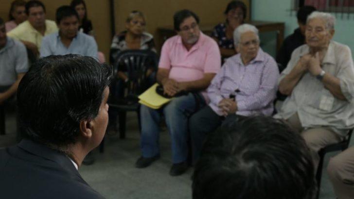 Capitanich informó sobre el inicio de obras de pavimento a vecinos de Villa Prosperidad