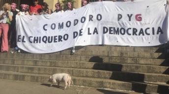 """""""Comodoro Py es un chiquero"""": protesta por una justicia independiente"""