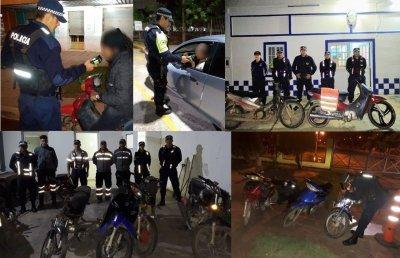 Fin de semana récord: la Caminera secuestró 116 motos y detectó 41 conductores alcoholizados