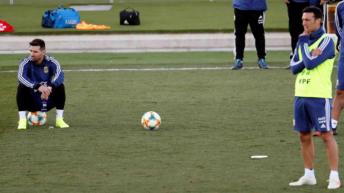 La Selección Argentina cumplió su segundo entrenamiento en Madrid