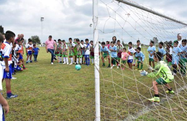 Villa Ángela: Peppo participó de la primera fecha del torneo de fútbol del programa Chaco Sueña y Juega 1