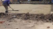 Comenzó la obra de pavimento urbano en el barrio Parque Jardín