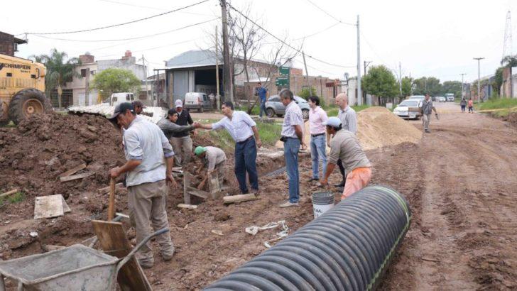 Capitanich supervisó el inicio de las obras de pavimento en el ingreso al Gran Toba