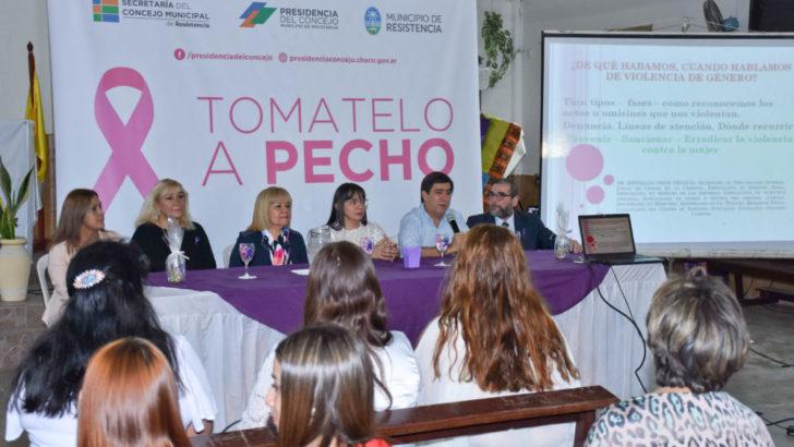 Concejo: comenzaron las charlas contra la violencia de género, en el barrio Mariano Moreno