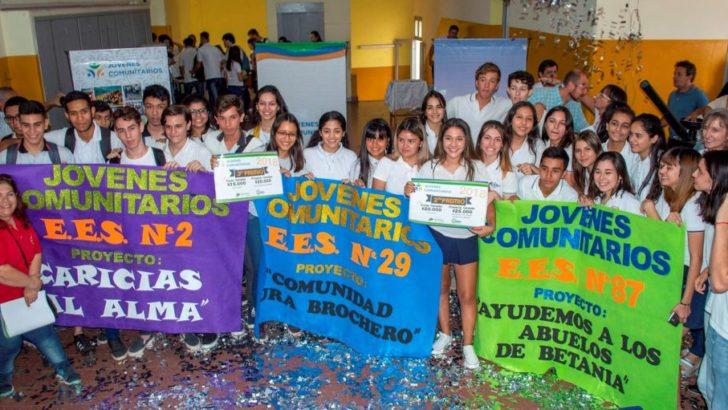 """Gustavo Martínez y Dipes anunciaron a los ganadores de la 3° edición de """"Jóvenes Comunitarios"""""""