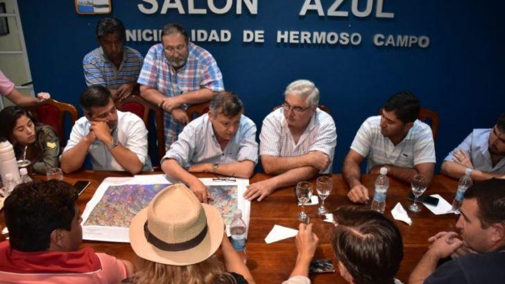 Lluvias: Peppo e intendentes de las localidades afectadas coordinaron medidas de contención