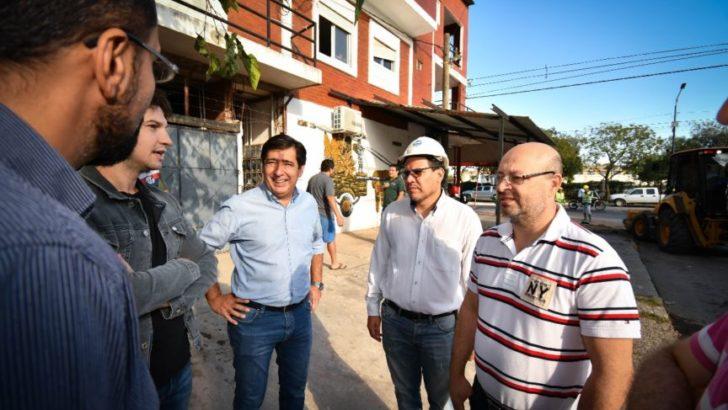 Monitorearon trabajos de saneamiento de desagües pluviales