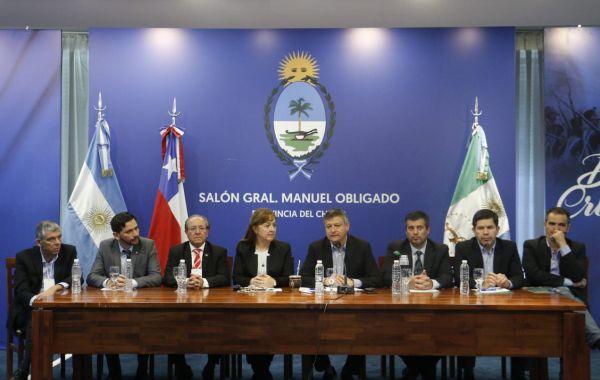 Peppo recibió a autoridades portuarias de Chile