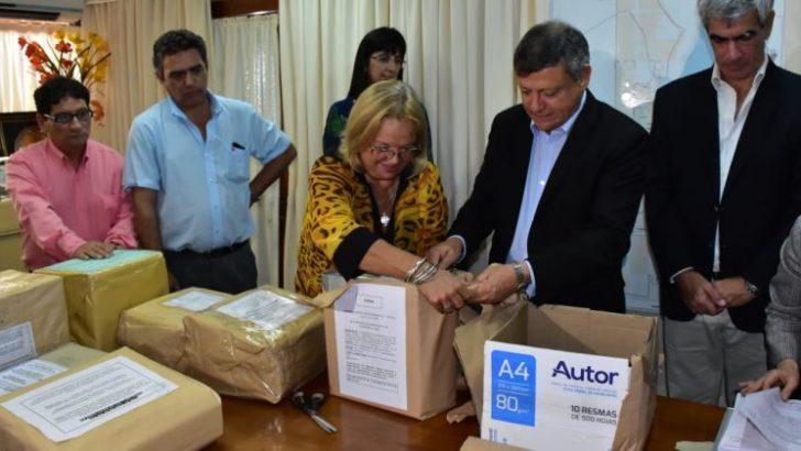 Peppo y Azula encabezaron la licitación de 50 cuadras de pavimento para Barranqueras