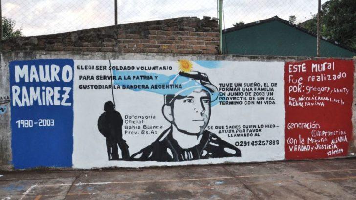 Quedó inaugurado el mural en memoria del soldado Mauro Ramírez en Apóstoles