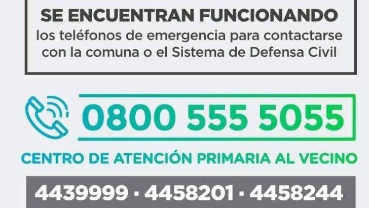 Tras la tormenta, el Municipio mantiene activo el protocolo de emergencia