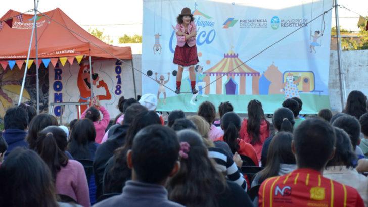 Los espectáculos gratuitos de Chaque el Circo en Villa Ercilia