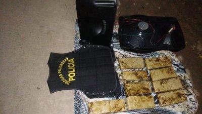 Sáenz Peña: secuestran más de 6 kilos de marihuana escondidos en un parlante