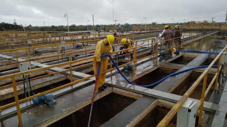 Sameep realizó trabajos de mantenimiento en su complejo de plantas potabilizadoras