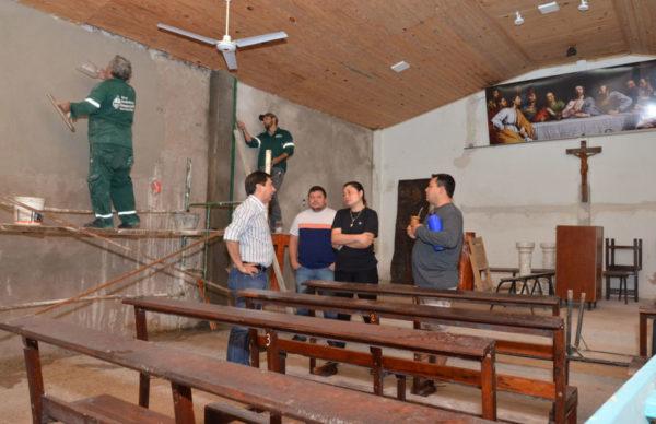 Avanzan los trabajos que Equipo Hábitat realiza en la capilla 12 Apóstoles 1