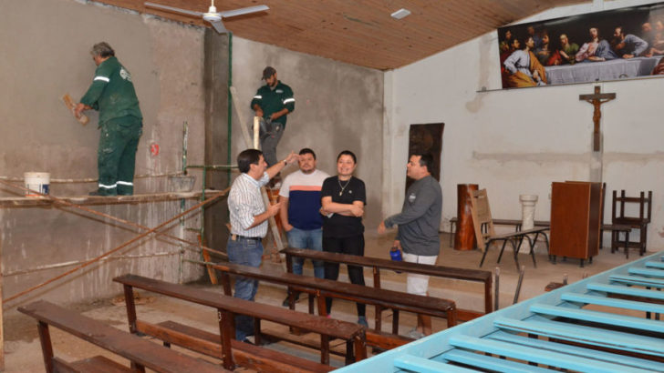 Avanzan los trabajos que Equipo Hábitat realiza en la capilla 12 Apóstoles