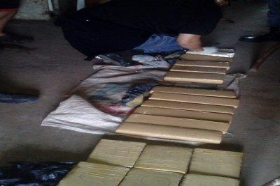 Las Palmas: en allanamiento, se incautaron casi 17 kilos de marihuana