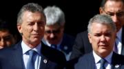 Macri recibe al presidente de Colombia, en visita oficial