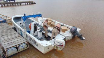 Persecución de película en el río Uruguay
