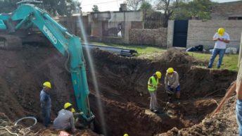 Villa Ángela: Sameep inició los trabajos de reparación de las cuencas cloacales