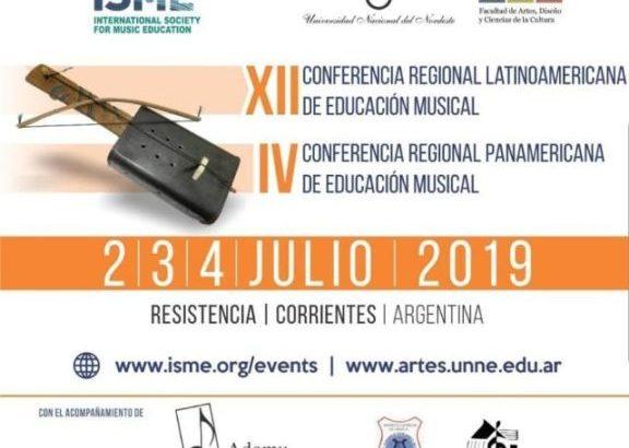 Los institutos de Música de Chaco y Corrientes serán sede de las Conferencias regionales Latinoamericana y Panamericana 2019