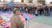 Peppo habilitó la temporada de actividades en el nuevo polideportivo de Miraflores