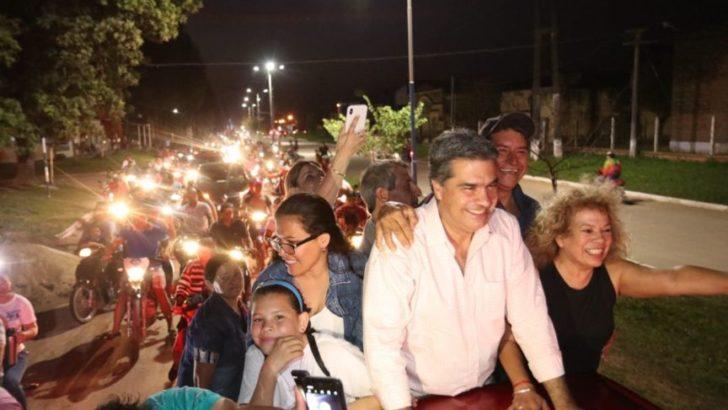 Se intensifica la campaña: Capitanich recorrió 15 localidades en dos días