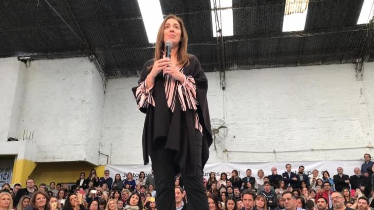 """Cierre de Vidal en Buenos Aires: les pidió a los bonaerenses que le sigan «sosteniendo la mano"""""""