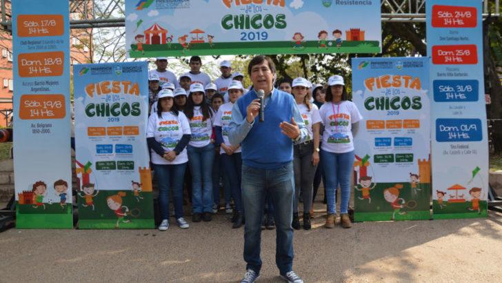 Gustavo Martínez presentó la fiesta de los chicos para celebrar el mes de los niños
