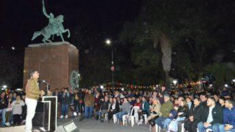 Más de 10.000 vecinos acompañaron la inauguración de la plaza Belgrano