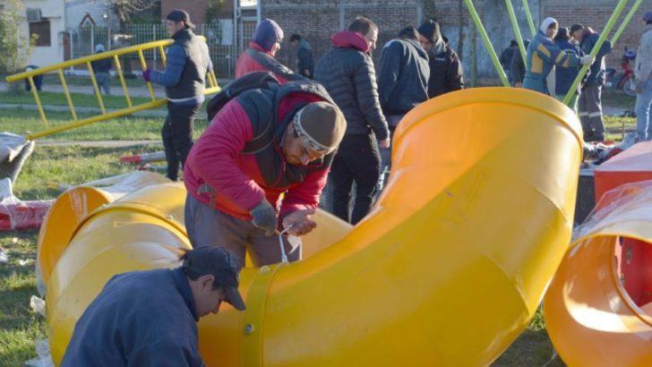 Realizaron un nuevo operativo integral de limpieza en el barrio Santa Rita