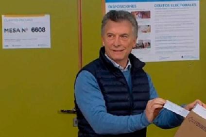 Votó Macri y le sumó importancia a las PASO: «En esta elección se definen los próximos 30 años»