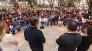 """Coqui, en Campo Largo: """"Es con todos, para defender a todos"""""""