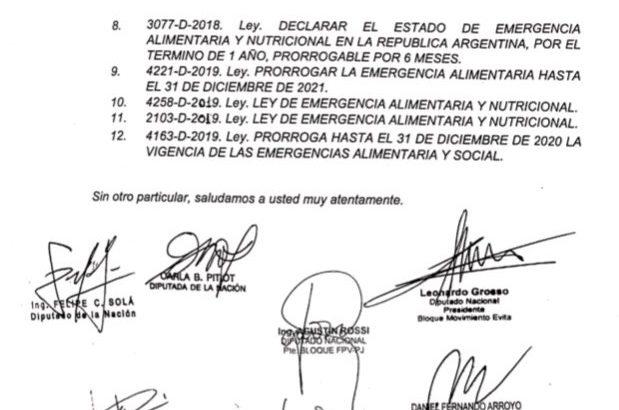 Diputados: se formalizó el pedido de sesión especial para tratar la Emergencia Alimentaria