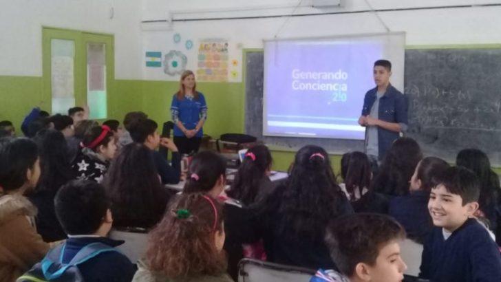 El Centro Mujer gestionó charla sobre grooming para alumnos de la Escuela 518