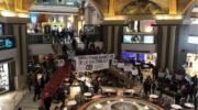 La Ctep visibilizó el hambre y la pobreza en shoppings porteños