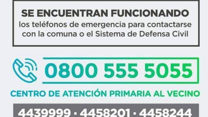 Alerta meteorológico: el Municipio activó el protocolo de emergencia y contención
