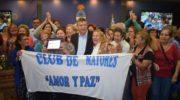 """Distinción al club de adultos mayores """"Amor y paz"""", elegido como el club del año"""