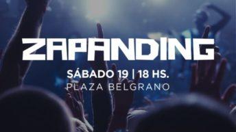 Zapanding: rock e improvisación musical en la Plaza Belgrano
