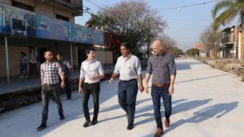 Capitanich supervisó el avance de las nuevas obras de pavimento urbano en Villa San Juan