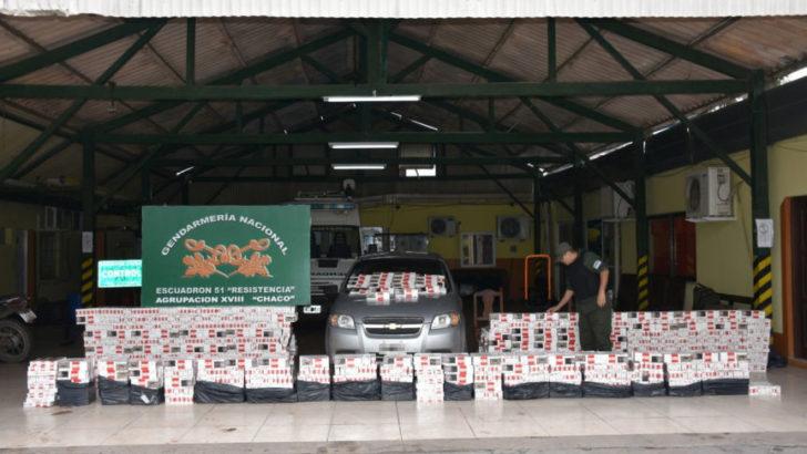 Contrabando: Gendarmería incautó más de 44 mil atados de cigarrillos